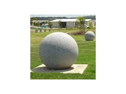 Auscast concrete ball bollards available from Moodie Outdoor Products
