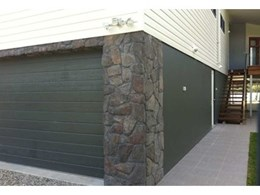 Austech's Duratuff Select vinyl cladding complemented by CraftStone in new home exterior