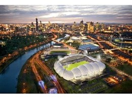 Australian Aluminium Finishing provide powder coating for Melbourne Rectangular Stadium