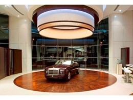 Australian Turntable Co. provides showroom turntables for luxury car dealership