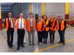 Austria's Consul General and Trade Commissioner Mr Guido Stock and his staff visit Blum's new Australian headquarters