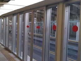 Automatic sliding door system used in Pakistan bus network
