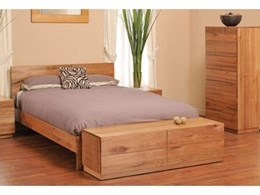 Bailey Messmate timber four piece bedroom suite available from Lifestyle Furniture