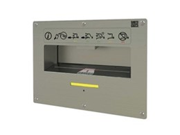 Barcode scanning secure entry chute available from Wharington International