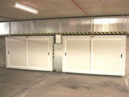 Basement car park storage available from Qwik-Store Custom Storage Lockers