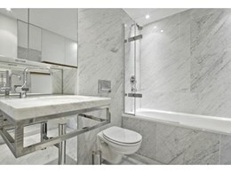 Bianco Carrara Italian marble available from RMS Natural Stone and Ceramics