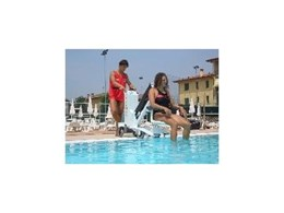 BluOne powered pool lift for wheelchair users from Southern Lifts