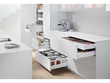 blum to display fittings solutions for everyday kitchen use at sydney indesign architecture