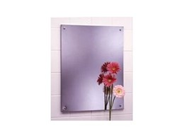 Bobrick frameless stainless steel mirror available from RBA Group