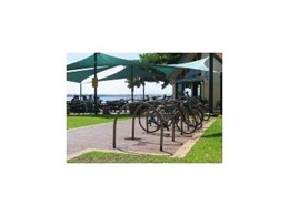 CBR series of bicycle parking rails available from Cora Bike Rack