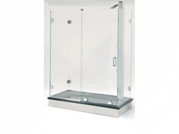 CRL's new Essence Series header-free frameless sliding glass shower door systems