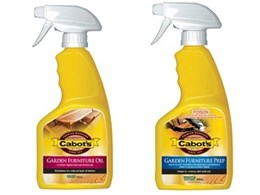 Cabot's new ready to use spray packs protect and clean outdoor furniture easily