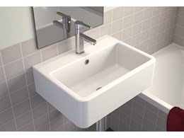 Caroma's new Cubus utility wall basin combines style and practicality