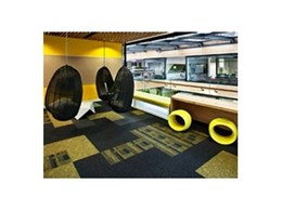 Carpet tiles from Ontera Modular Carpets installed at Telecom Place in Auckland