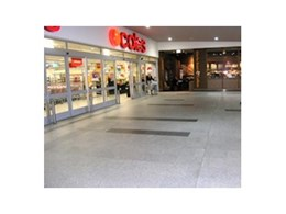 Casper White granite paving from Cinajus installed in Stockland Shopping Mall in Forster