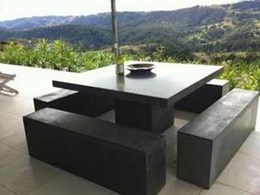 Cement outdoor furniture built tough for the Australian summer