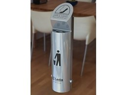 Cigarette Butt Bins available from Leda-Vannaclip