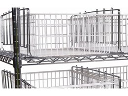Cleanspan chrome wire shelving systems available from Stor-Med Pty Ltd