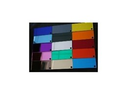 Coloured Acrylic Mirror available from Hamilton Australia