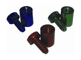 Coloured wall mount standoffs for signage from Southern Imperial