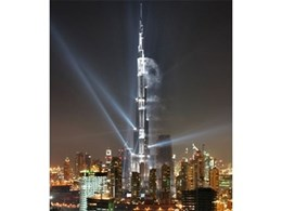 Company from the Zumtobel brand stages lighting show for Burj Khalifa launch