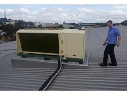 Con-Form air-con platform used in retro-fit of roof-mounted refrigeration unit
