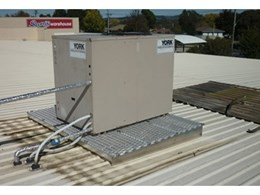 Con-form platforms replace unsafe timber platforms for air con units