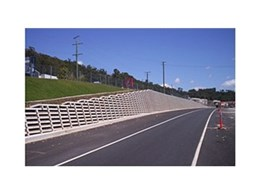 Concrib's crib wall at Maroochydore Road Upgrade stage three