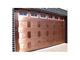 Copper coated garage doors from Copper Roof Shingles