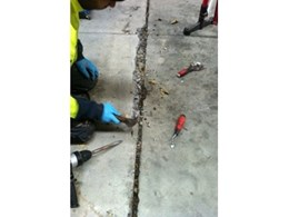 Crack repairs for restoring warehouse concrete floors