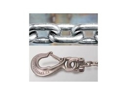 Cromox Grade 50 Rated Stainless Steel Chain and Components available from Bridco