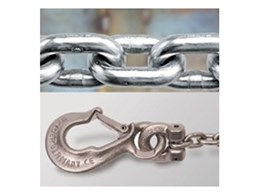 Cromox stainless steel lifting chains available from Bridco