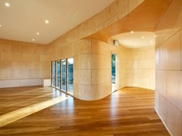 Curvy capabilities of Austral Plywood add a touch of cool to school