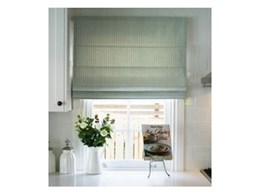 Custom fabric roman blinds available from Suntex