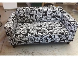 Custom printed and upholstered sofa covers from ITK