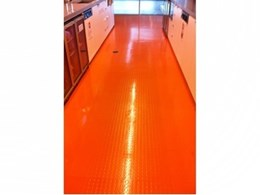 Dalsouple colourful natural rubber flooring for kitchens and bathrooms