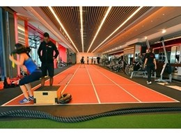 Decoflex and Neoflex fitness flooring @ Pure Fitness, Singapore