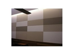 Decorative acoustic panels for court rooms available from Sontext