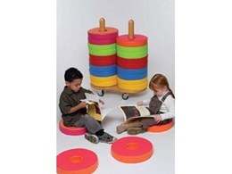 Donut trolley with cushions from Raeco perfect for classrooms