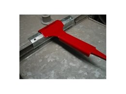 Duct cleat installation tool available from Bullock MFG