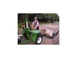 Easy-lift log splitter available from Kennards Hire