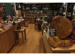 Eco Flooring's strand woven bamboo flooring installed at new Lush store