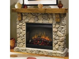 Electraflame Fieldstone electric fireplaces available from Glen Dimplex Australia