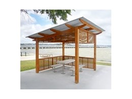 Elegant and practical park shelters and structures available from Landmark Products