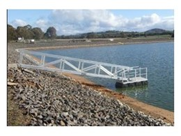 Elevated Safety Systems install aluminium floating pontoon at a Winery