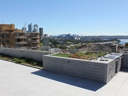 Elmich products enhance rooftop garden at inner city Sydney apartment