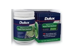 Envirosolutions waste paint hardener available from Dulux