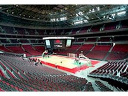 Envirospray 300 spray on acoustic coating from Enviro Acoustics used at Sydney Superdome