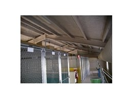 Envirospray 300 spray on acoustic insulation from Enviro Acoustics used in dog kennels in Hanrob Pet Care Centre