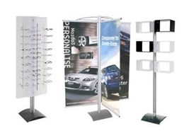 Event Post free standing point of sale display systems from Display Design